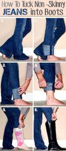 tuck wide jeans into boots 131x300 4 useful tips clean stains on clothes