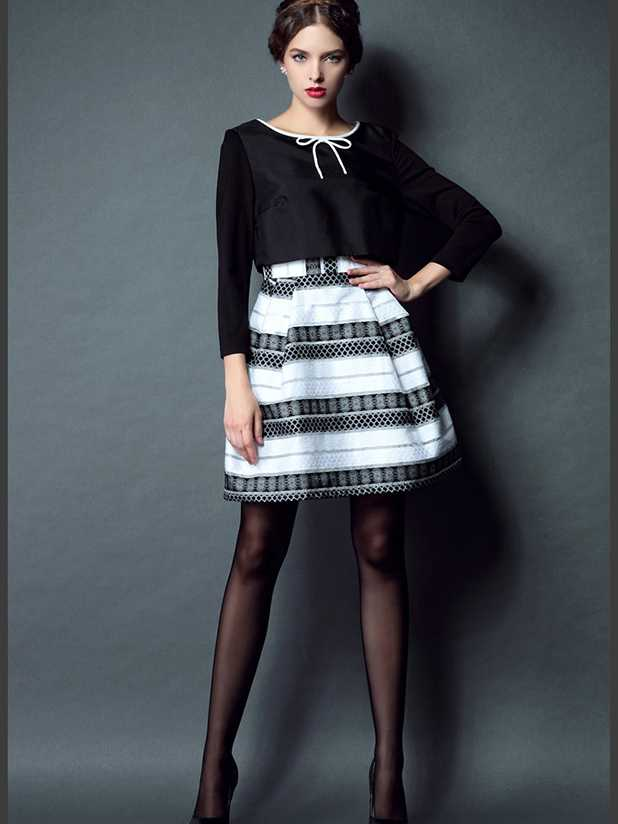 Custom made womens long sleeve dress