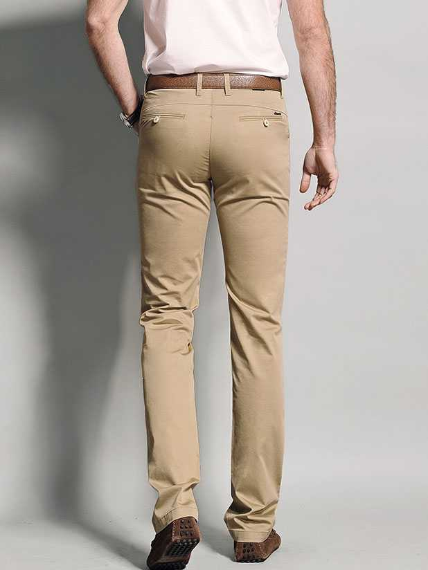Custom mens casual pants can choose khaki or other fabric
