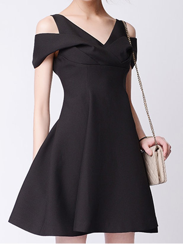 Customize womens V neck sleeveless female dress