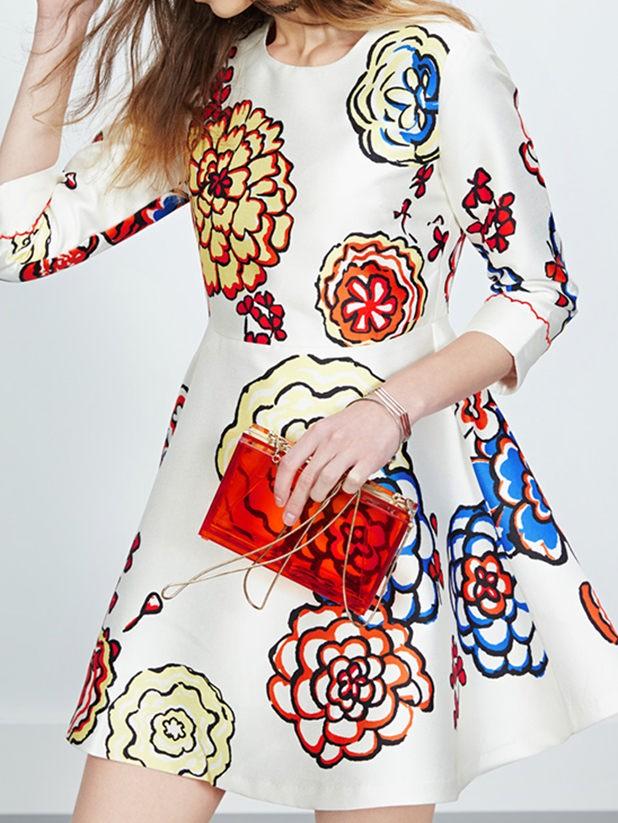 Customize womens dress soft fabric 3D silk-screen print 53de097505