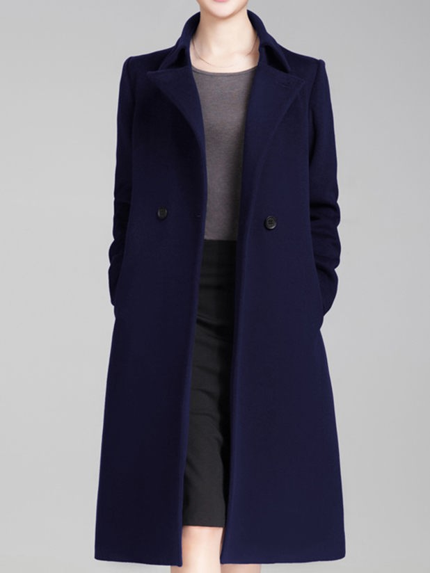 Customize woolen overcoat for women button style, customize womens ...