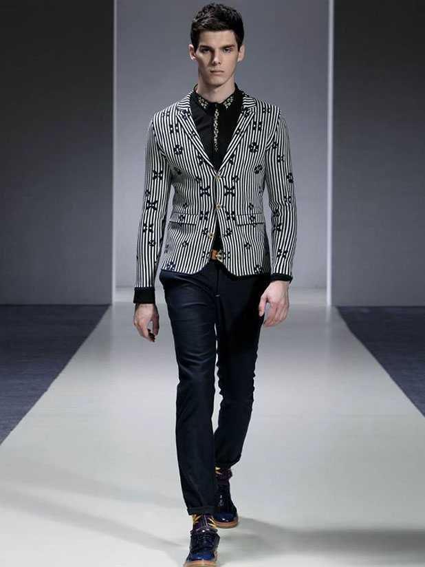 Mens wool made jacket can custormize pattern