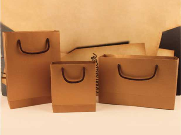 Paper packing bags with handles