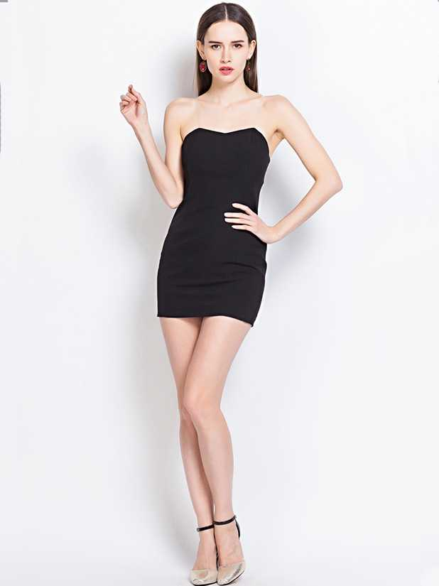 Produce low-cut womens dresses slim fit